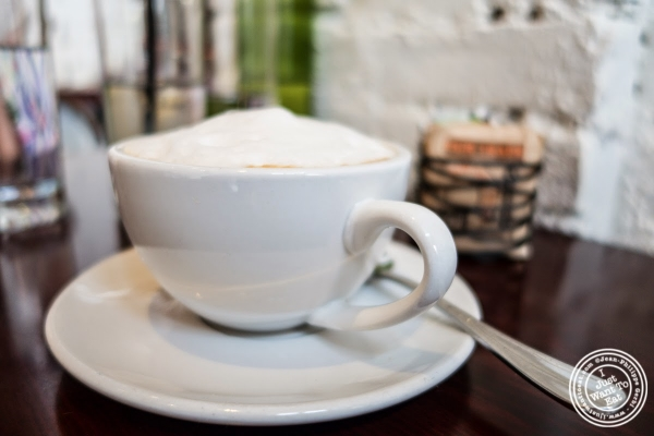 cappuccino at Café Blossom on Carmine, New York, NY
