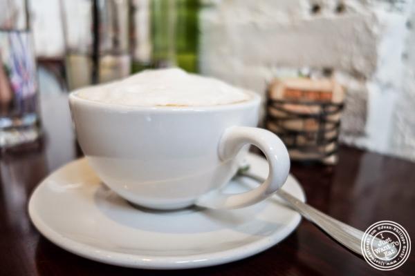 cappuccino at Café Blossom on Carmine, New York, NY