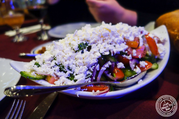Feta cheese salad at Nargis Café in Brooklyn, NY