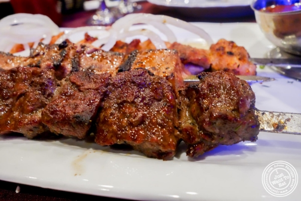 Beef kebab at Nargis Café in Brooklyn, NY