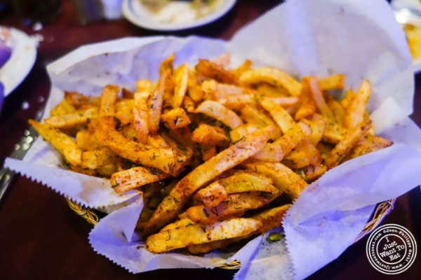 Fries with hens at Nargis Café in Brooklyn, NY