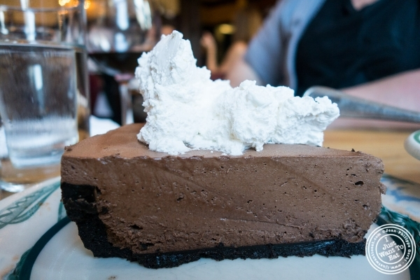 Chocolate mousse at Peter Luger Steakhouse in Brooklyn, NY