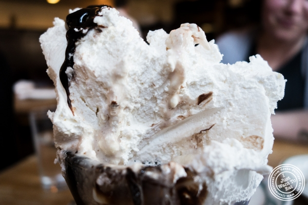 schlag or whipped cream at Peter Luger Steakhouse in Brooklyn, NY