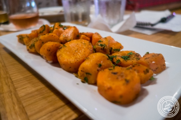 Moroccan carrots at Spiegel in New York, NY
