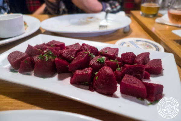 Marinated beets at Spiegel in New York, NY