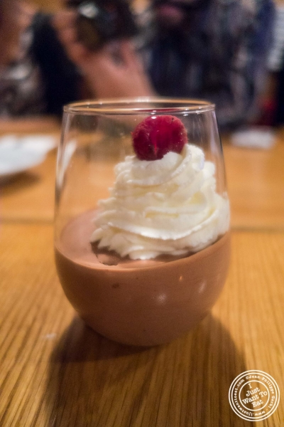 Mousse au chocolat at  Spiegel in New York, NY