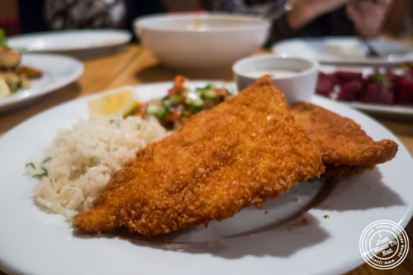 Schnitzel at Spiegel in NEw York, NY