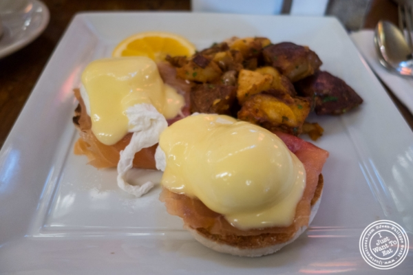 Eggs benedict at Pigalle in New York, NY