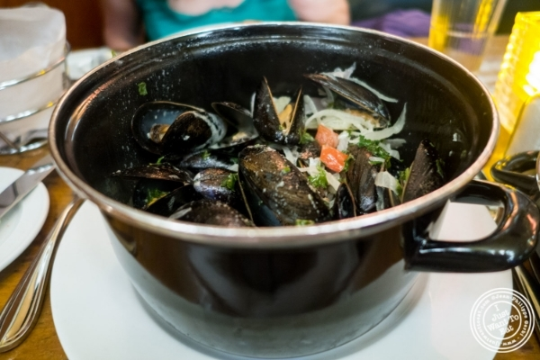 Moules frites at Pigalle in New York, NY