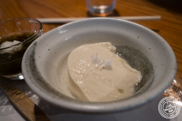Fresh tofu at En Japanese Brasserie in New York, NY
