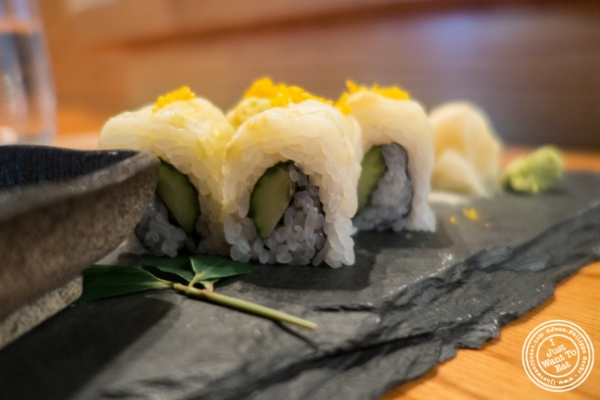 Oshinko roll at En Japanese Brasserie in New York, NY