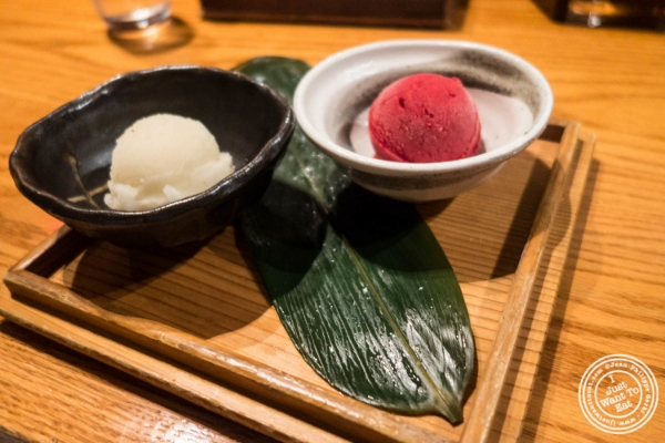Kisetsuno sorbet at En Japanese Brasserie in New York, NY