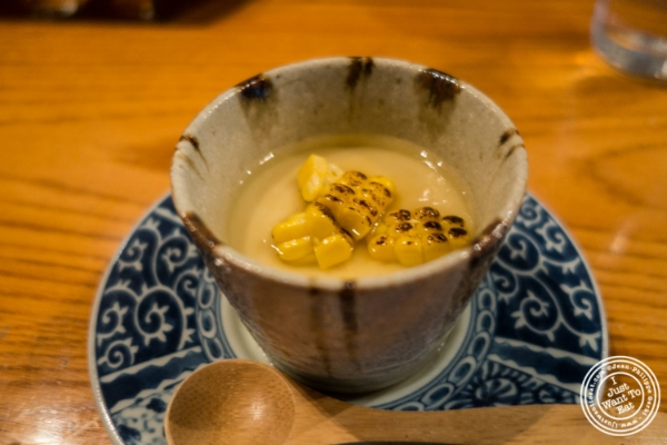Corn chawanmushi at En Japanese Brasserie in New York, NY