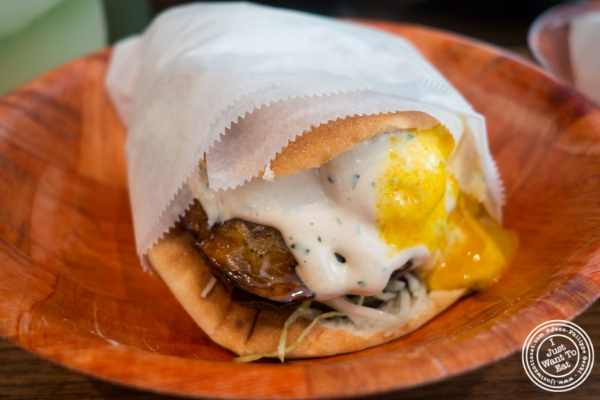 Sabich sandwich at Taim in New York, NY