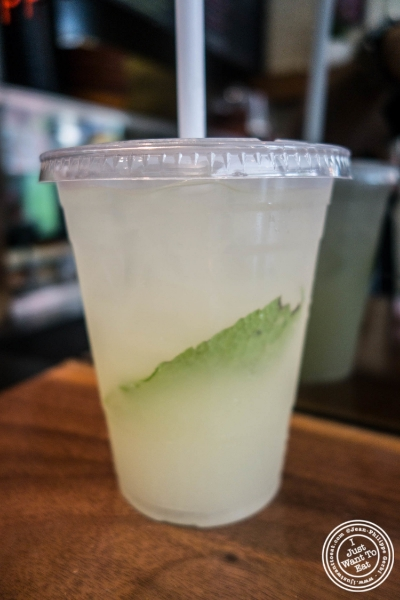 Fresh Ginger-Mint Lemonade at Taim in New York, NY