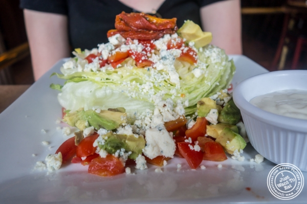 Wedge salad at Maxwell's Tavern in Hoboken, NJ