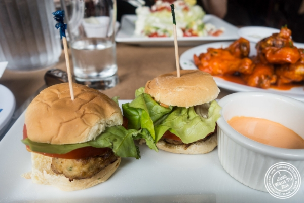 Crab cake sliders at Maxwell's Tavern in Hoboken, NJ
