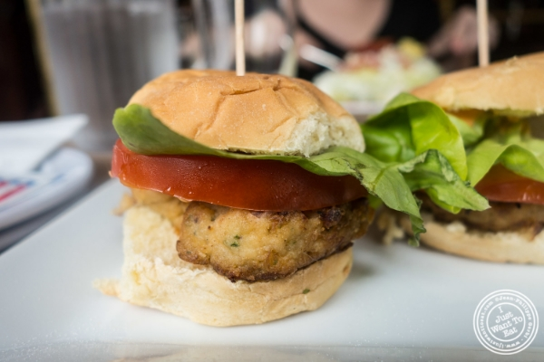 Crab cakes sliders at Maxwell's Tavern in Hoboken, NJ