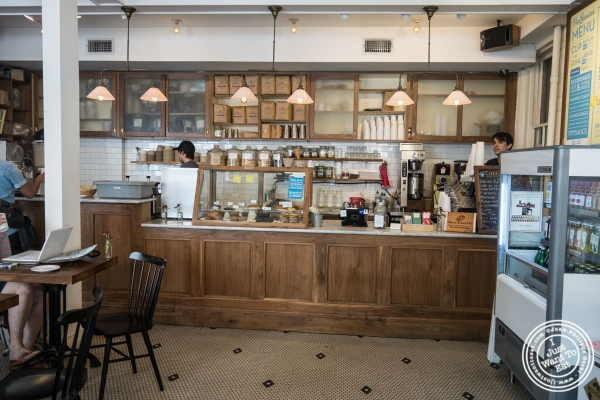 Interior of Van Leeuwen Ice Cream Shop in New York, NY