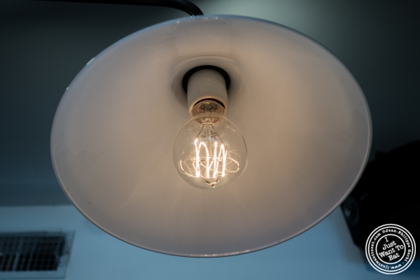 Light bulb at Van Leeuwen Ice Cream Shop in New York, NY