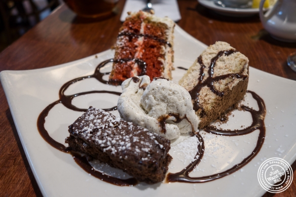 Dessert sampler at The Cupping Room Cafe in New York, NY