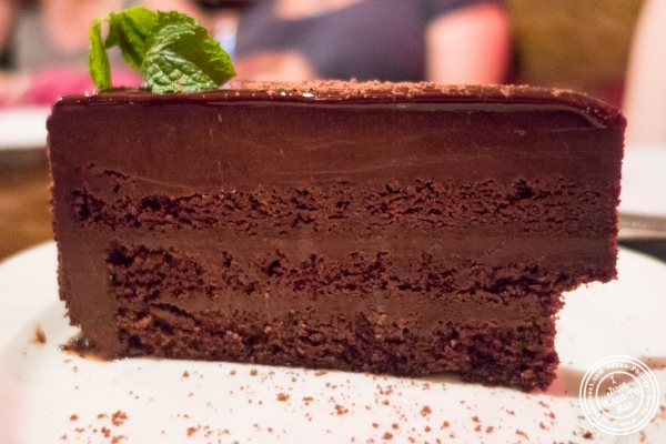 Chocolate cake at Pierre Loti Wine Bar in New York, NY