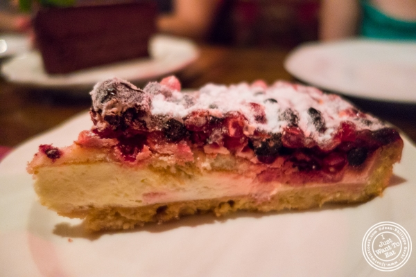 Berry tart at Pierre Loti Wine Bar in New York, NY