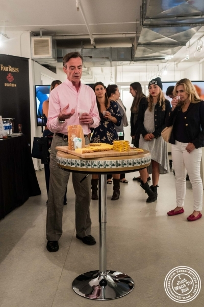 Max Mc Calman at Les filles à fromages exhibit: Bourbon and Cheese Tasting