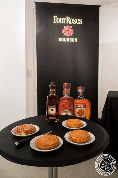 Epoisse cheese and Four Roses Single Barrel Bourbon at Les filles à fromages exhibit: Bourbon and Cheese Tasting