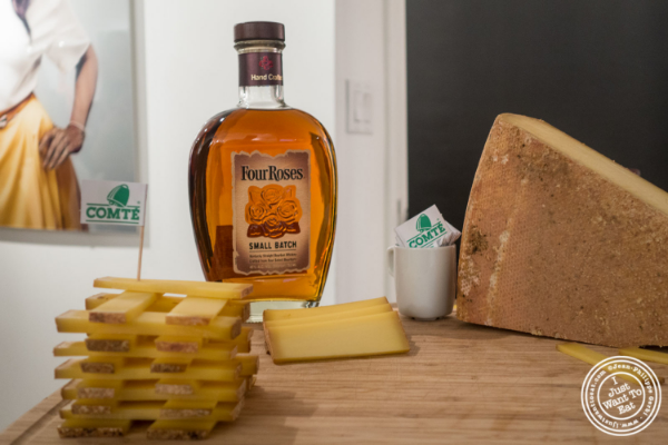Comté and Small Batch Four Roses Bourbon at Les filles à fromages exhibit: Bourbon and Cheese Tasting