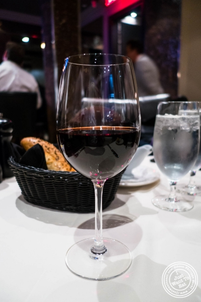 Julia James Pinot Noir 2012 at Angus Club Steakhouse in New York, NY