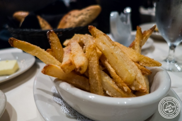 Truffle steak fries at Angus Club Steakhouse in New York, NY