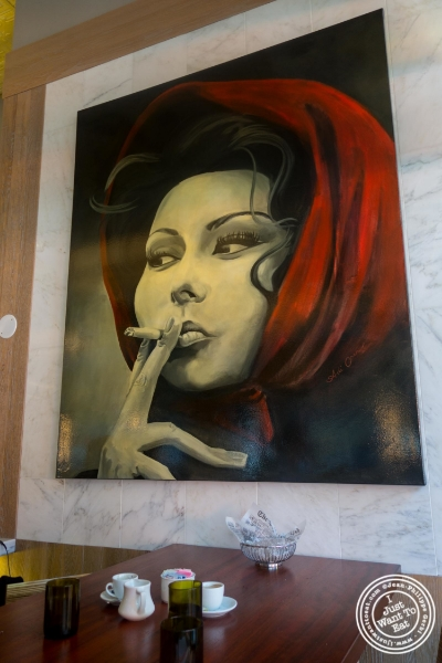 Painting of Sophia Loren at Torino, Italian Restaurant in New York, NY
