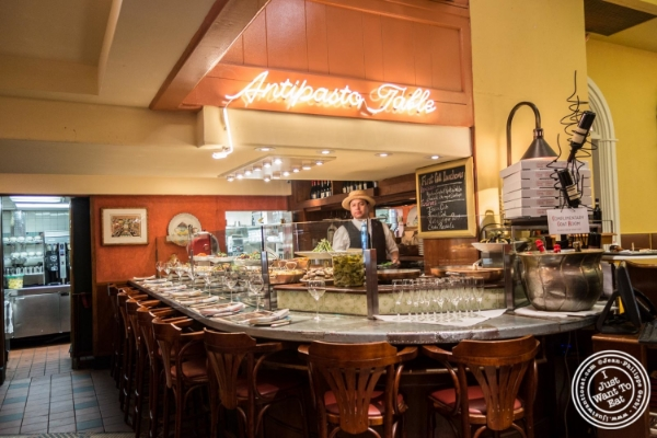 Antipasto bar at Trattoria Dell'Arte in New York, NY