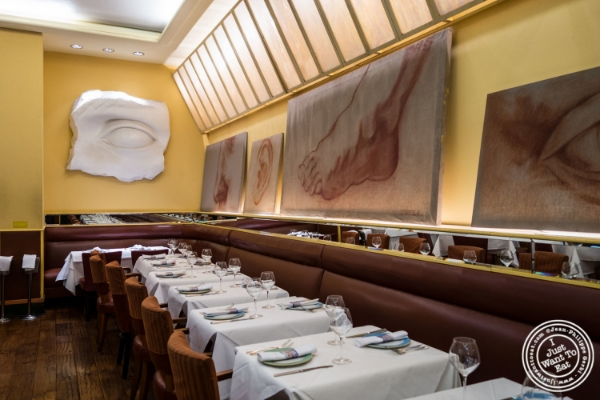 Dining room at Trattoria Dell'Arte in New York, NY