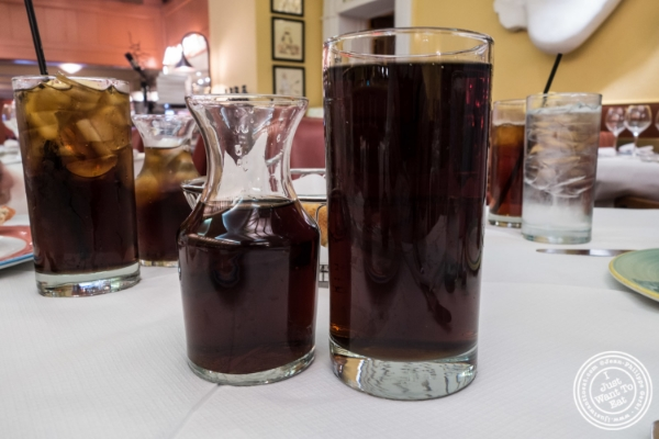 Coke with refill at Trattoria Dell'Arte in New York, NY
