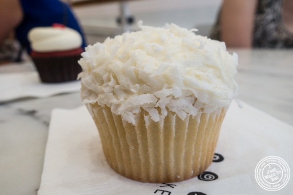 Coconut cupcake at Georgetown cupcake in Soho, New York, NY