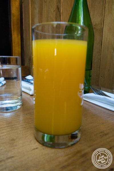 freshly squeezed orange juice at Montmartre in New York, NY
