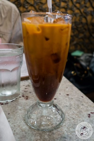 Thai iced tea at Laut in New York, NY