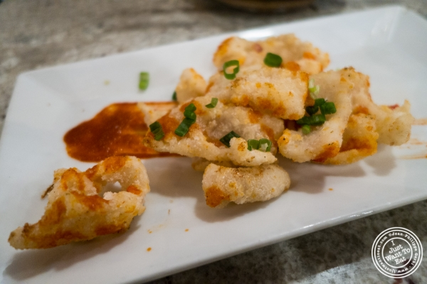 Sotong Goreng or fried squid at Laut in New York, NY