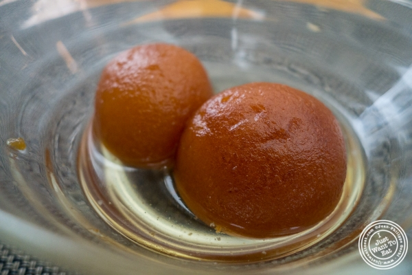 gulab jamun at Bhatti Indian Grill in New York, NY