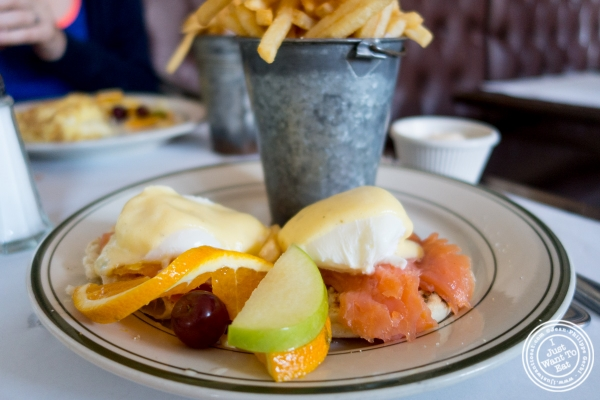 Salmon benedict at Elysian Café, Hoboken, NJ