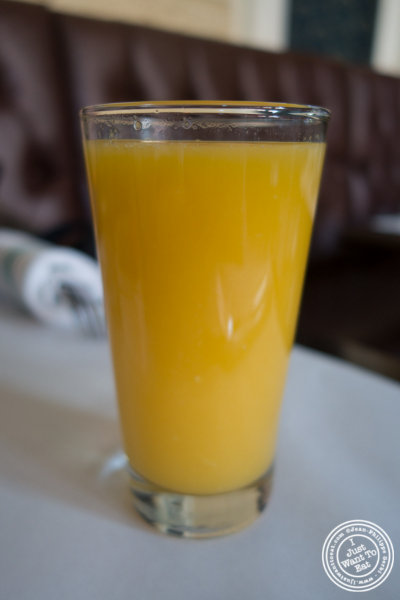 fresh squeeze orange juice at Elysian Café, Hoboken, NJ