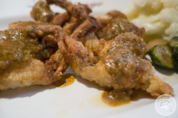 frog legs at Le Rivage in New York, NY