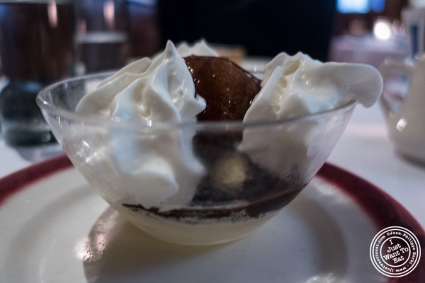 Poire Belle Helene at Le Rivage in New York, NY