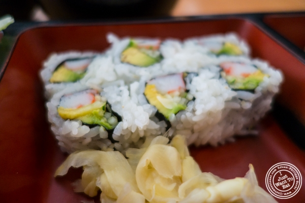 California rolls at Kikku Japanese Restaurant in New York, NY