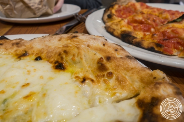 Quattro formaggi at La Pizza & La Pasta at Eataly in New York, NY