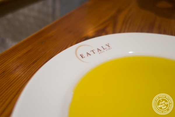 Olive oil at La Pizza & La Pasta at Eataly in New York, NY