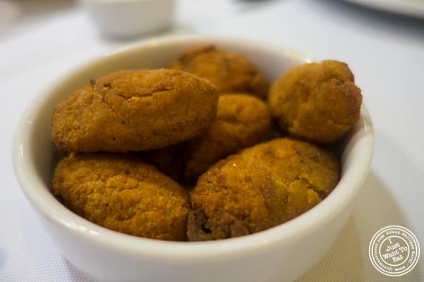 Potato croquettes atBolinha in Sao Paulo, Brazil