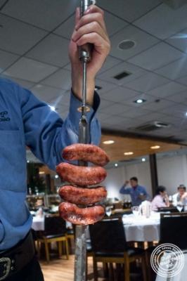 Pork sausage at Fogo De Chao in Sao Paulo, Brazil